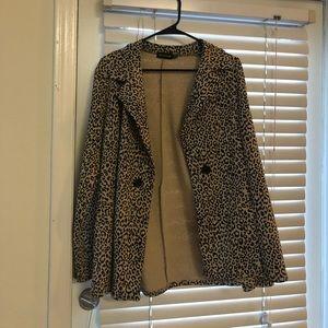 Cheetah print boyfriend blazer